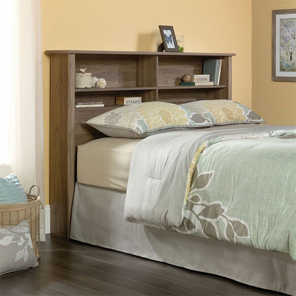 Sauder Bookcase Headboard, Salt Oak