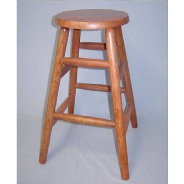 eHemco Solid Oak Counter Stool