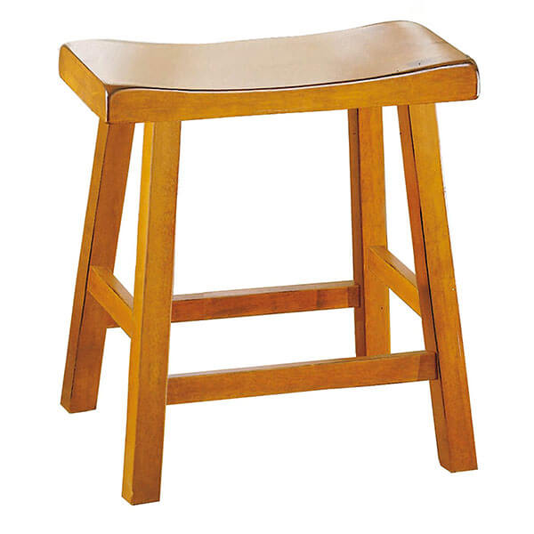 Homelegance Saddleback Oak Stool