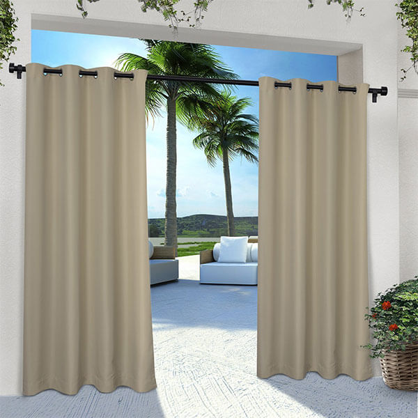 Exclusive Home Curtains Solid Cabana Window Curtains