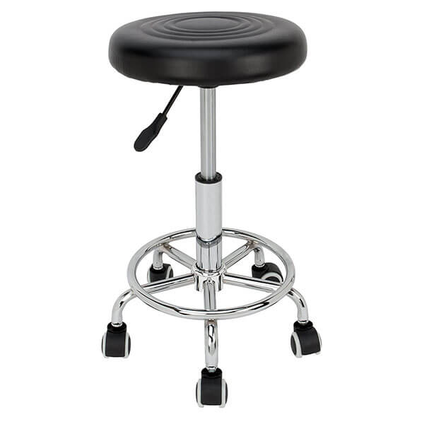 Performance Tool Pneumatic Rolling Padded Stool