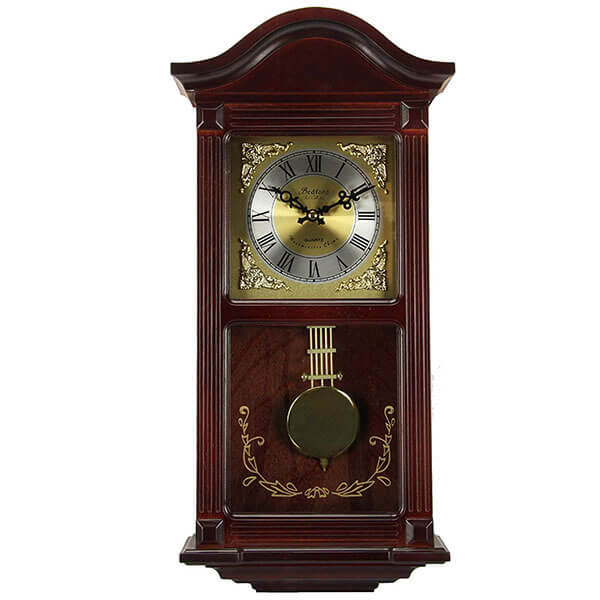 Bedford Clock Collection Mahogany Wall Clock