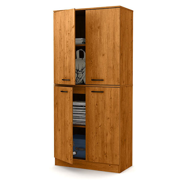 South Shore Axess 4-Door Armoire, Country Pine