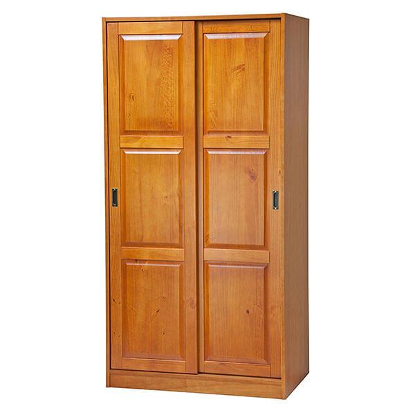 Palace Imports 2-Sliding Door Armoire, Honey Pine
