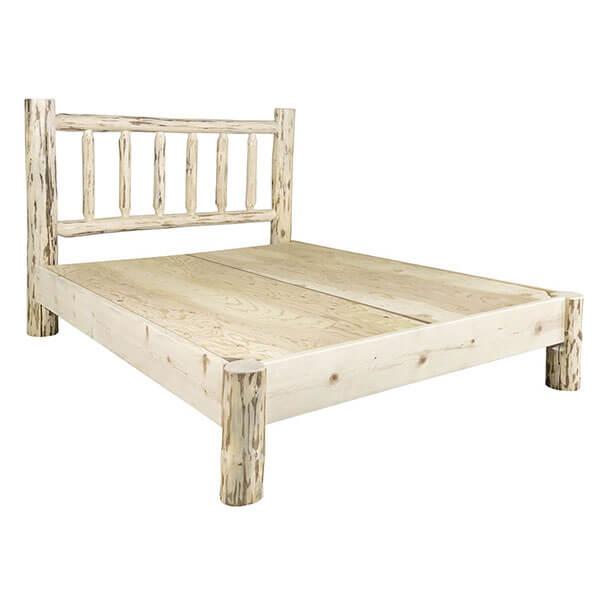 Montana Woodworks Solid Pine Bed Frame, Unfinished