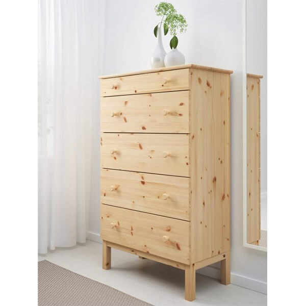 Ikea Tarva 5 Drawer Chest Pine