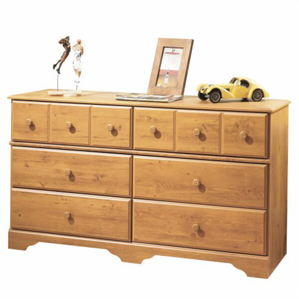 South Shore Furniture Double Dresser, Country Pine