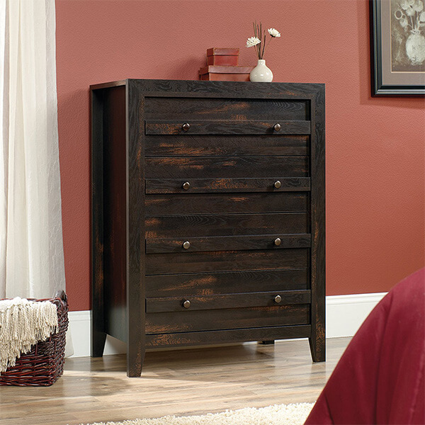 Sauder Dresser, Charcoal Pine