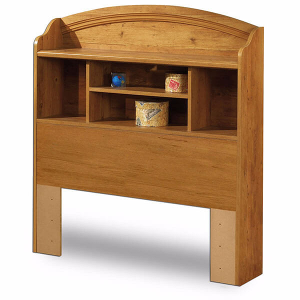 Prairie Collection Bookcase Headboard, Country Pine Finish