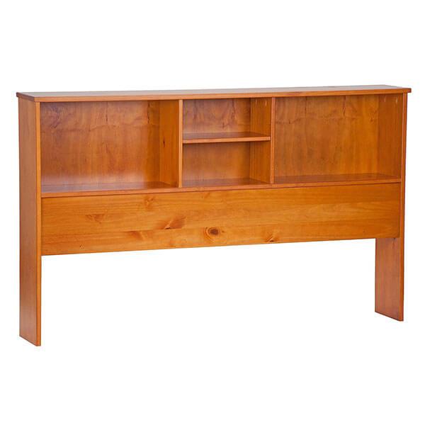 Palace Imports Kansas Bookcase Headboard, Honey Pine