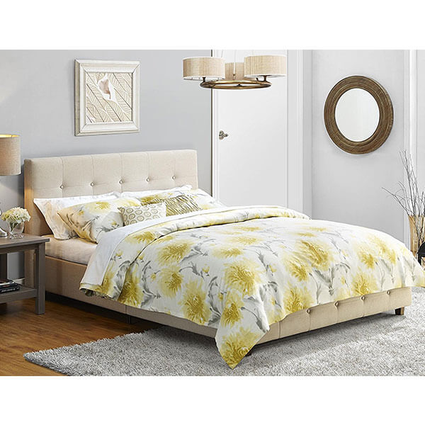 DHP Rose Linen Upholstered Platform Bed