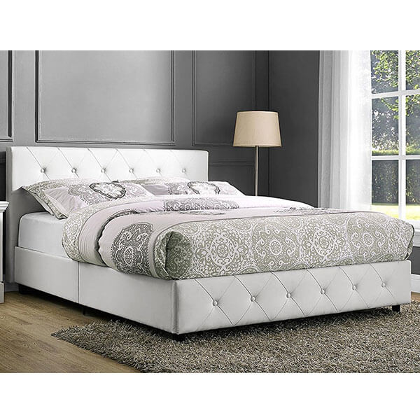 DHP Dakota Faux Leather Upholstered Platform Bed