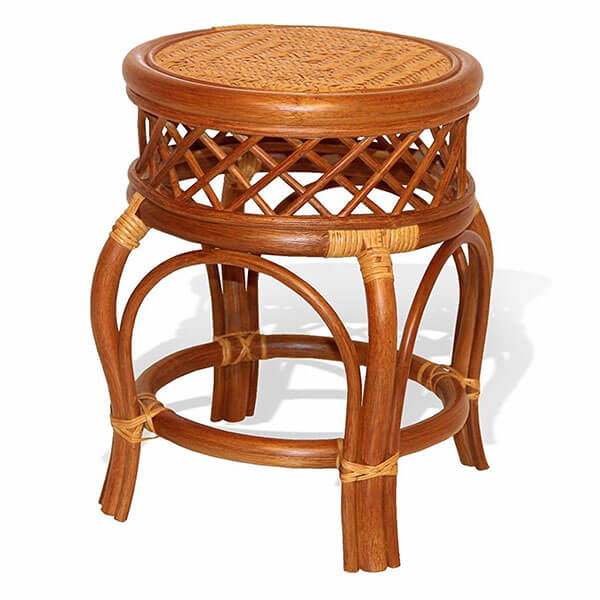 Ginger Handmade Rattan Wicker Stool