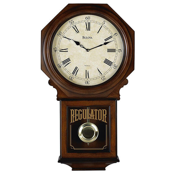 Bulova Ashford Old World Clock, Walnut Finish