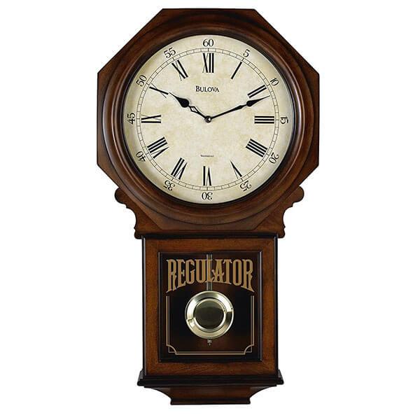 Bulova Ashford Old World Clock, Walnut Finish