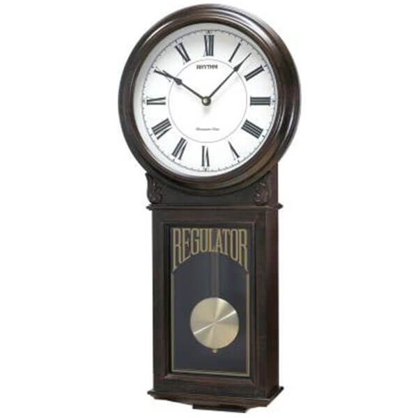 Examplar Wooden Musical Schoolhouse Regulator Wall Clock