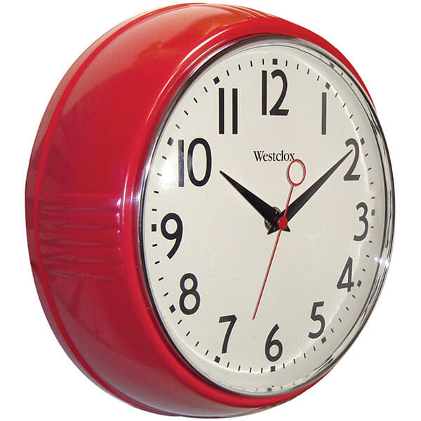Westclox Retro Kitchen Wall Clock