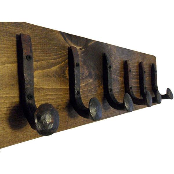 Rustic Railroad Spike Hook Coat Rack