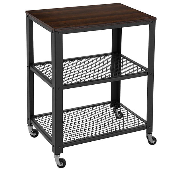 SONGMICS Rustic 3-Tier Kitchen Cart