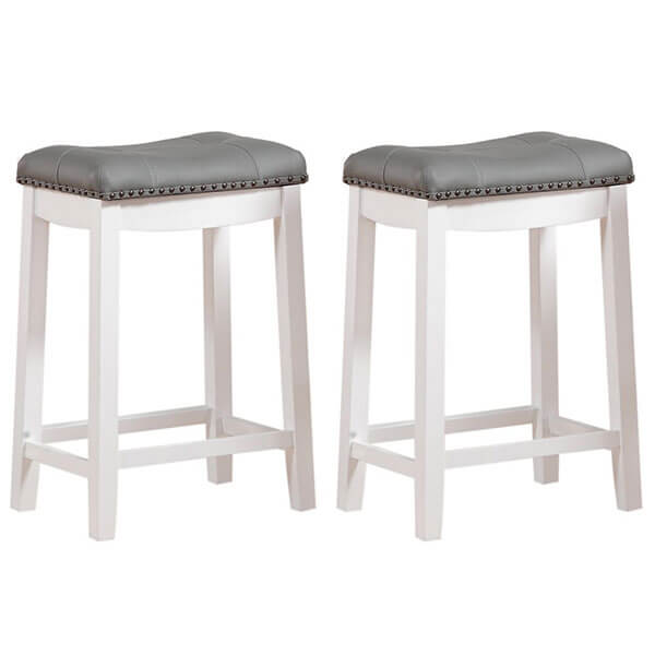 Angel Line Cambridge Padded Saddle Stool (Set of 2)