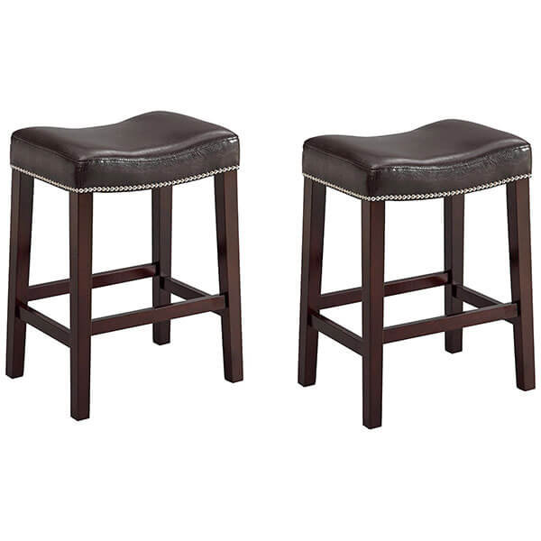 Crown Mark Nadia Saddle Stool, Set of 2