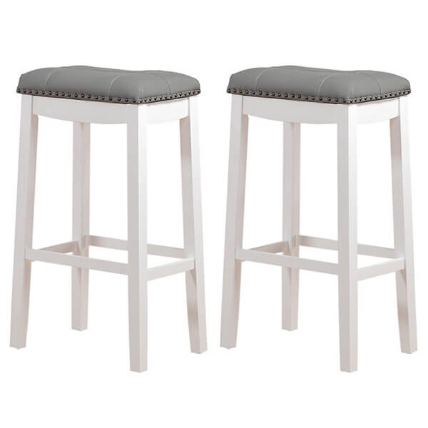 Angel Line 29-inch Cambridge Padded Saddle Stool