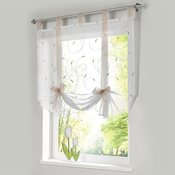 ISINO Tie Up Sheer Curtain