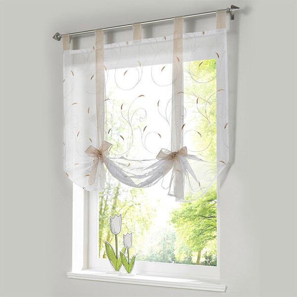 ISINO Tie Up Sheer Curtain