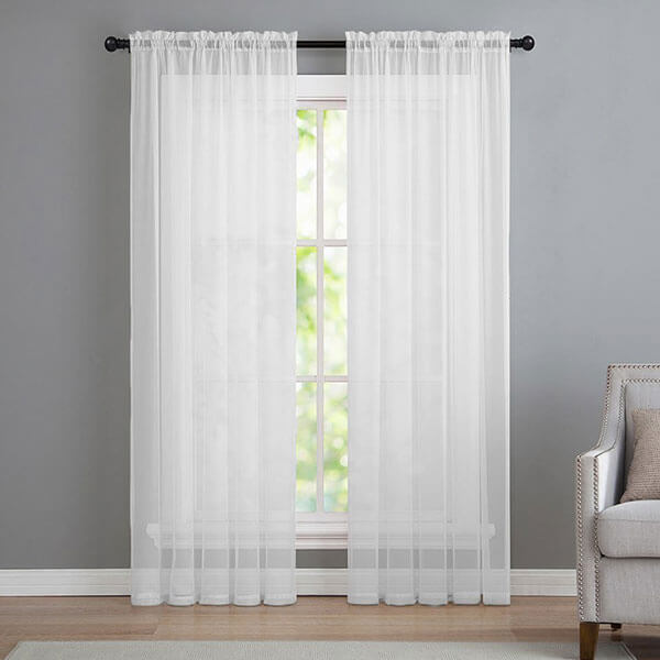 GoodGram Sheer Voile Window Curtain Panels