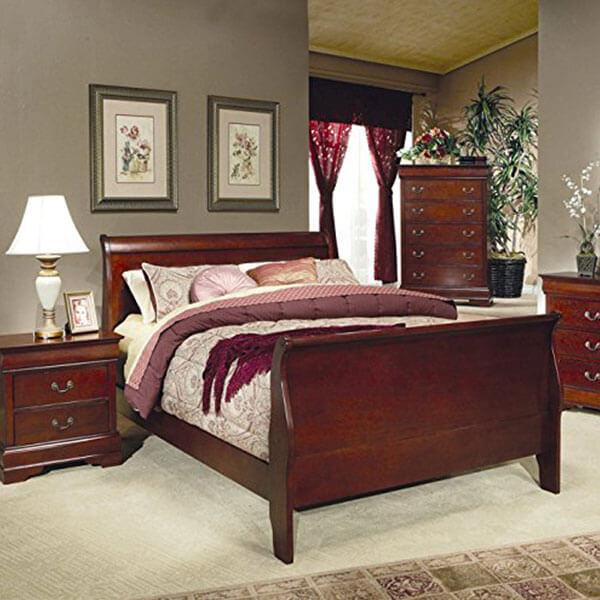 Coaster Louis Philippe King Size Sleigh Panel Bed