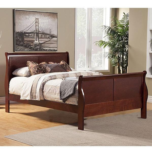 Alpine Furniture Louis Philippe II Sleigh Bed