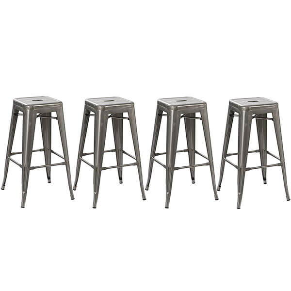 BTExpert Solid Steel Stacking Stools, Set of 4