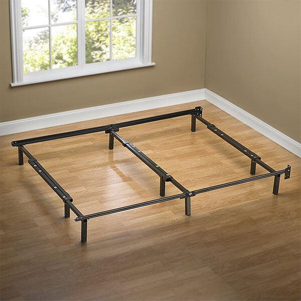 Zinus Compack Adjustable Steel Bed Frame, Full to King