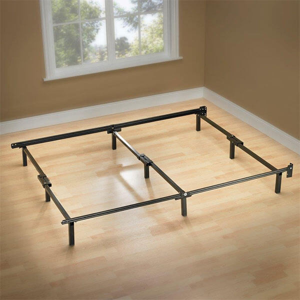Zinus Compack Adjustable Steel Bed Frame, Twin to Queen