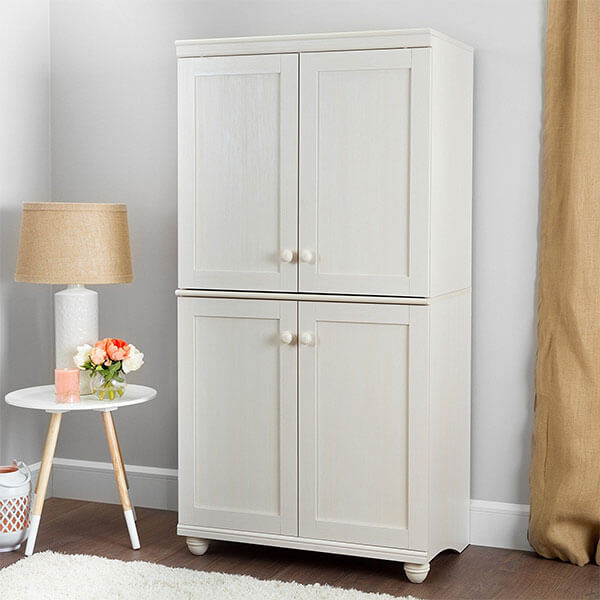 South Shore Hopedale 4-Door Storage Armoire