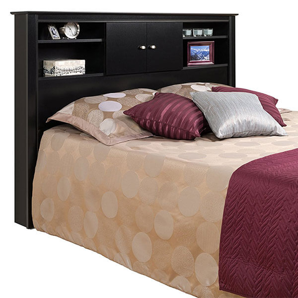 Prepac Black Kallisto Bookcase Headboard