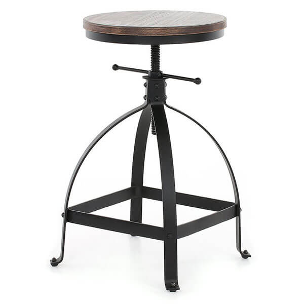 IKAYAA Adjustable Height Swivel Stool