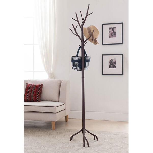 Kings Brand Tree Coat Rack, Bronze Finish
