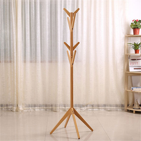 Teak Wood Tree Coat Rack