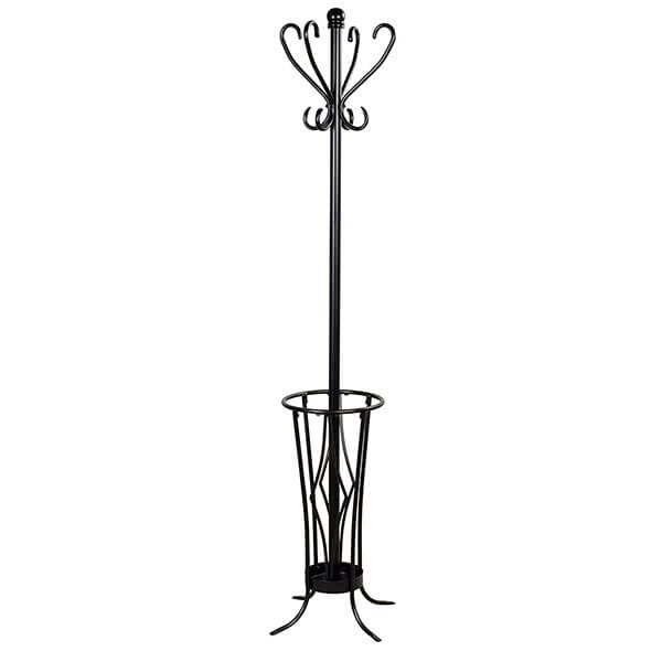 Leisure Space Coat Rack with Umbrella Stand