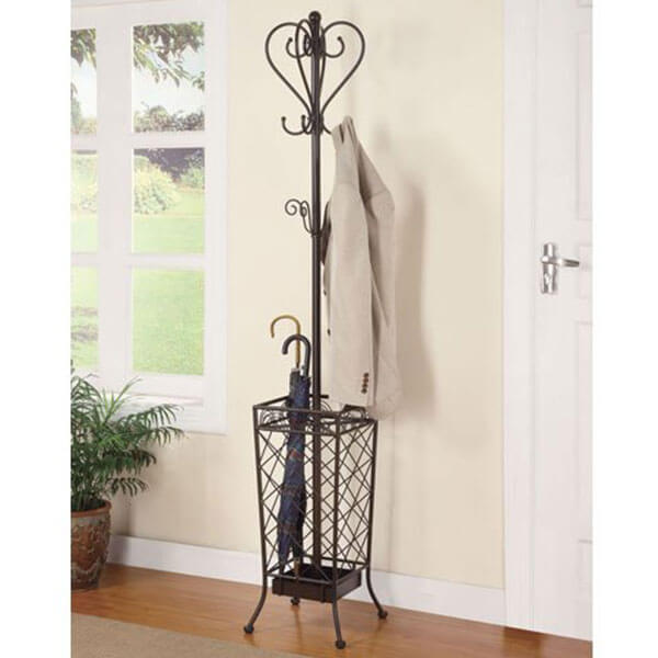 Coaster Home Furnishings Metal Coat Rack with Umbrella Stand
