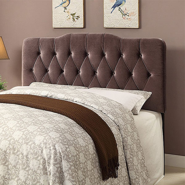 Pulaski Soft Shape Velvet Headboard, Slate Grey