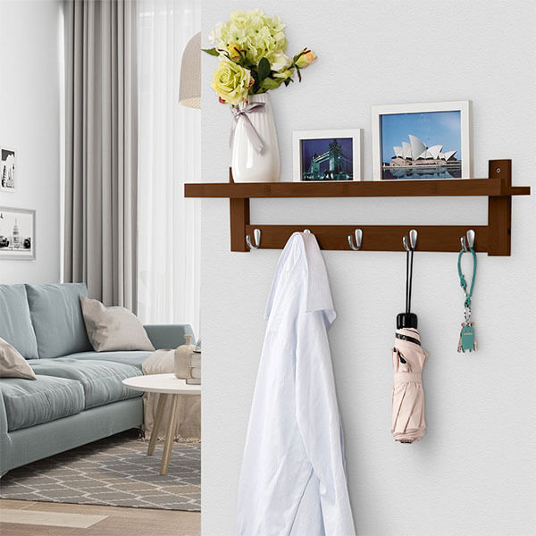 LANGRIA Wall Mounted Coat Hook Rack