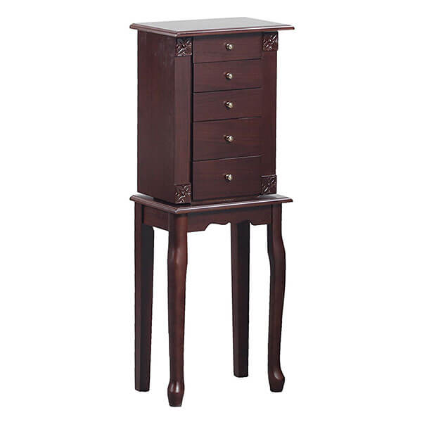 Bastia Walnut Jewelry Armoire