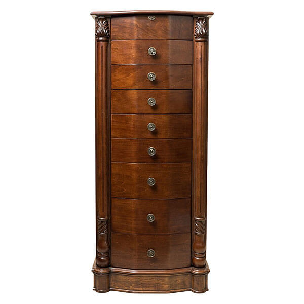 Hives and Honey 'Florence' Jewelry Armoire, Antique Walnut