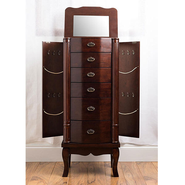 Hives and Honey 'Abigail' Jewelry Armoire, Walnut