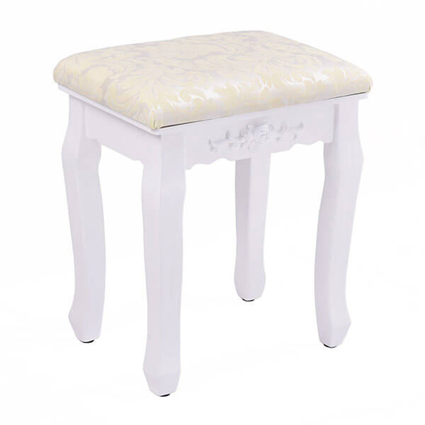 Giantex White Vanity Stool