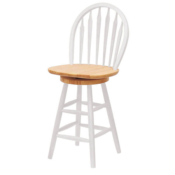 Winsome Wood 24-Inch White Swivel Stool
