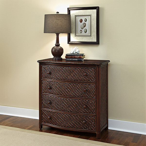 Home Styles Marco Island Drawer Chest, Cinnamon Finish