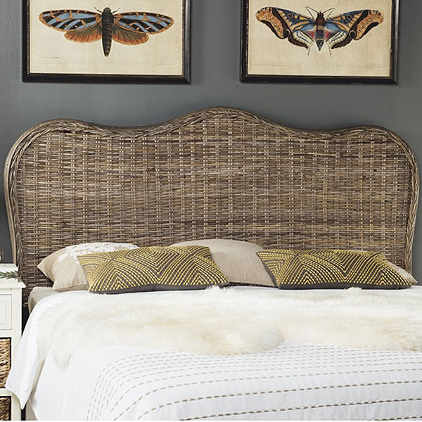 Safavieh Home Collection Imelda Grey Wicker Headboard